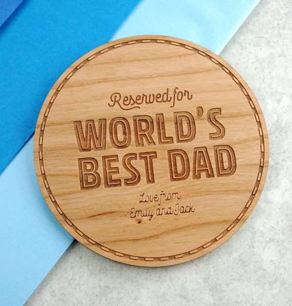 Reserved-for-Dad-coaster-gift