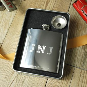 Engraved Silver Hip Flask