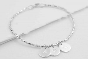 Single-Silver-Nugget-Bracelet-with-3-discs