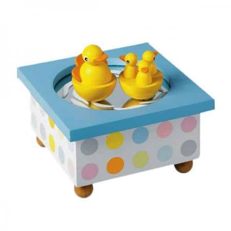 Duck Music Box Christening Box