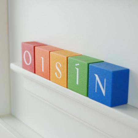Christening Gift for Boy-Rainbow ABC Blocks