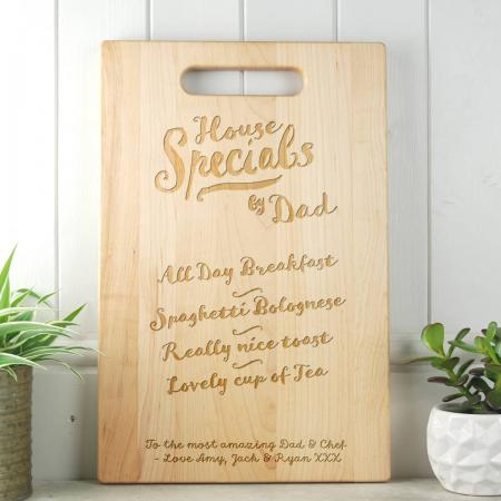 Fathers Day Gift House Specials Maple Chopping Board