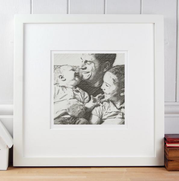 Gift for Dad Portrait with children