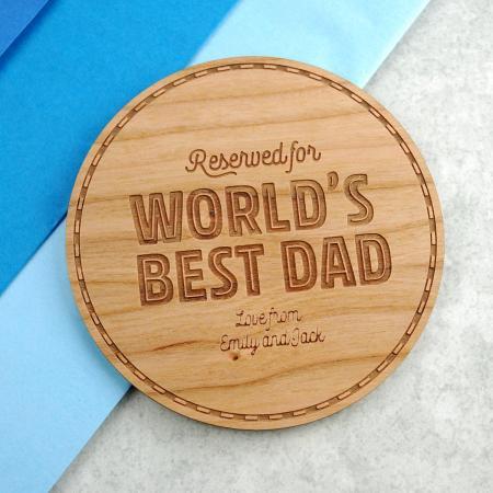 Gift for Dad Worlds Best Dad Coaster