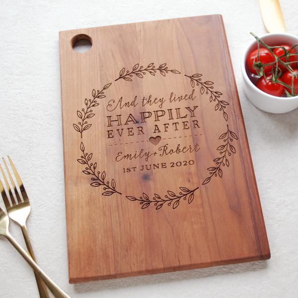 Wedding Anniversary Wooden Board Gift
