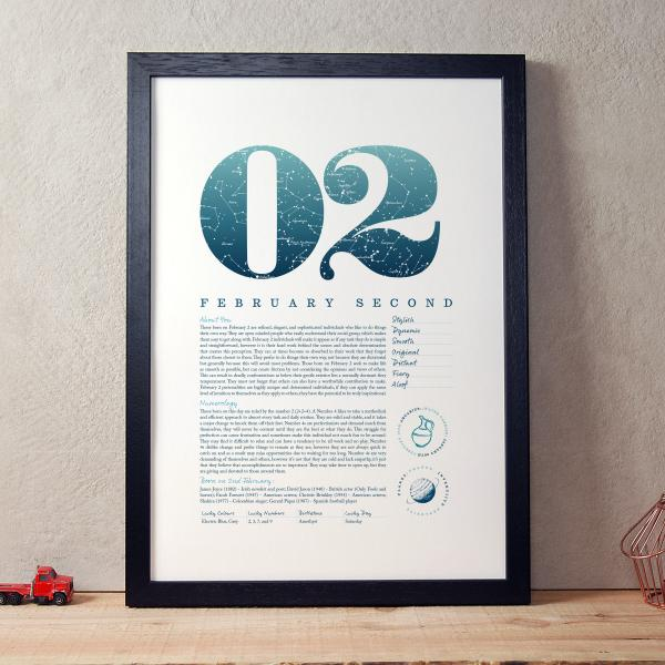 February 2nd Birthday Print