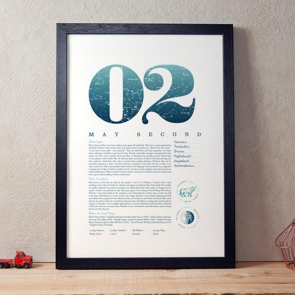 May 2nd Birthday Print