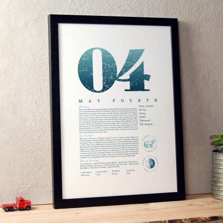 May 4th Birthday Print