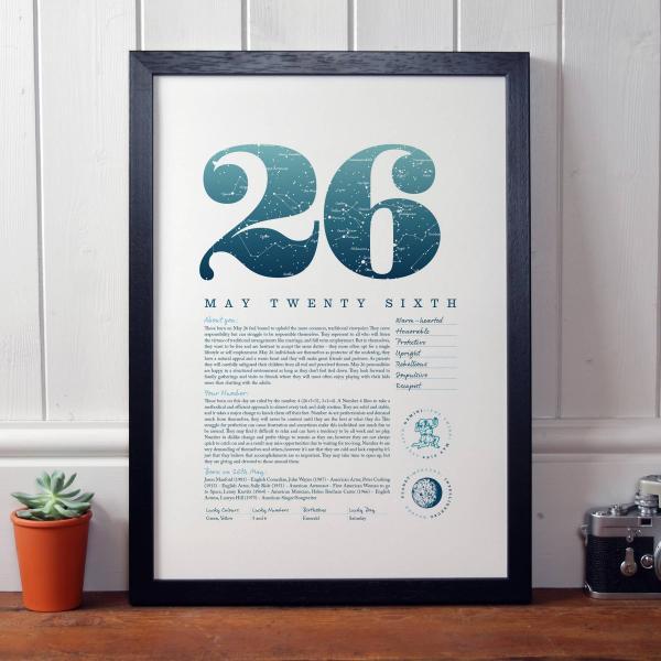 May 26th Birthday Print