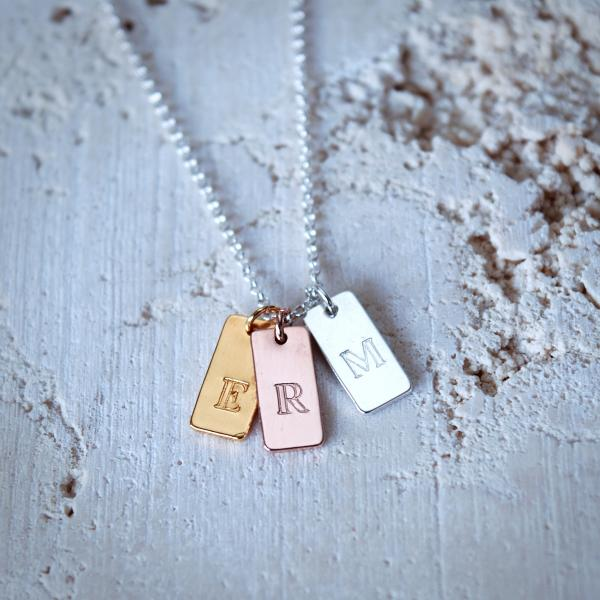 Personalised Initial 3 Letter Necklace