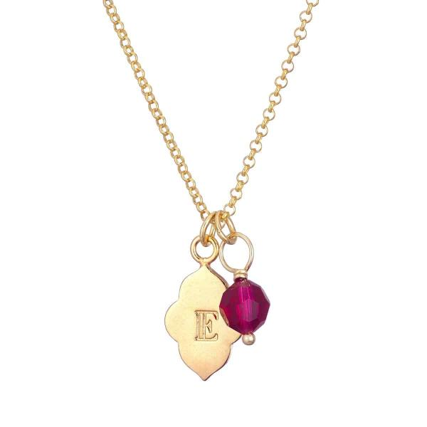 Moroocan Charm with Birthstone Necklace