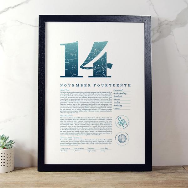 November 14th Birthday Print