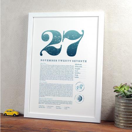 November 27th Birthday Print