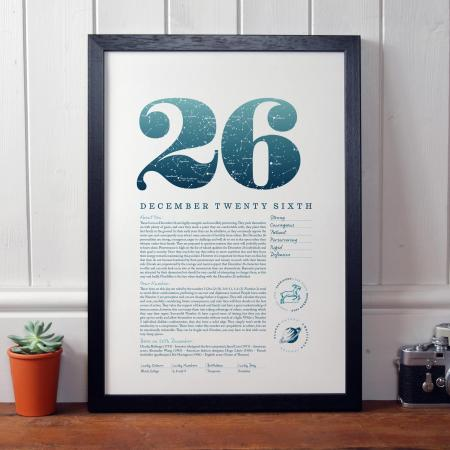 December 26th Birthday Print