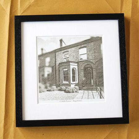 Pencil Drawing of House Gift