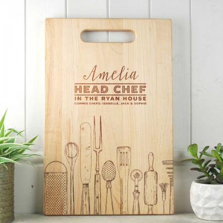 Personalised Gift for Her Chopping board