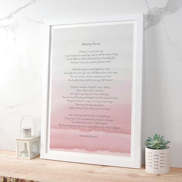 Personalied Poem Print