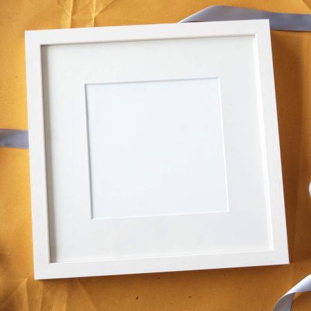 White timber frame