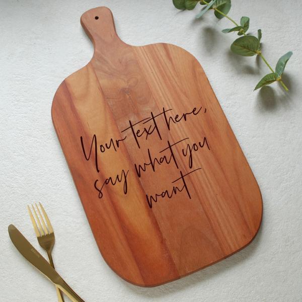 Personalised Cherrywood Custom text chopping board