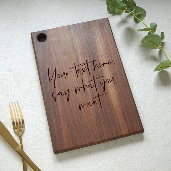 Your text Personalised Walnut Chopping Board