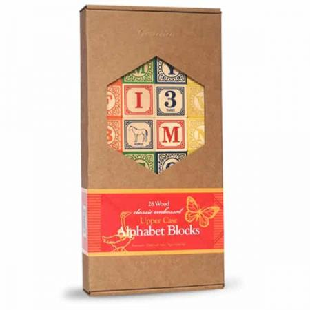 Wooden Baby Gift - Alphabet blocks