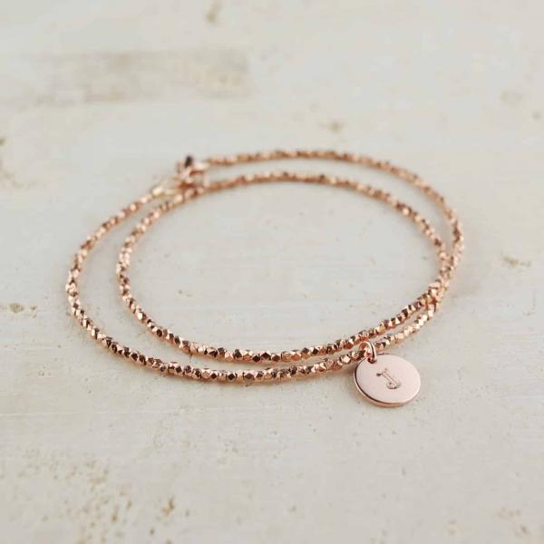 Double-RoseGold-Nugget-Bracelet