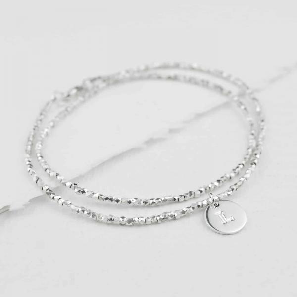 Double-Silver-Nugget-Bracelet