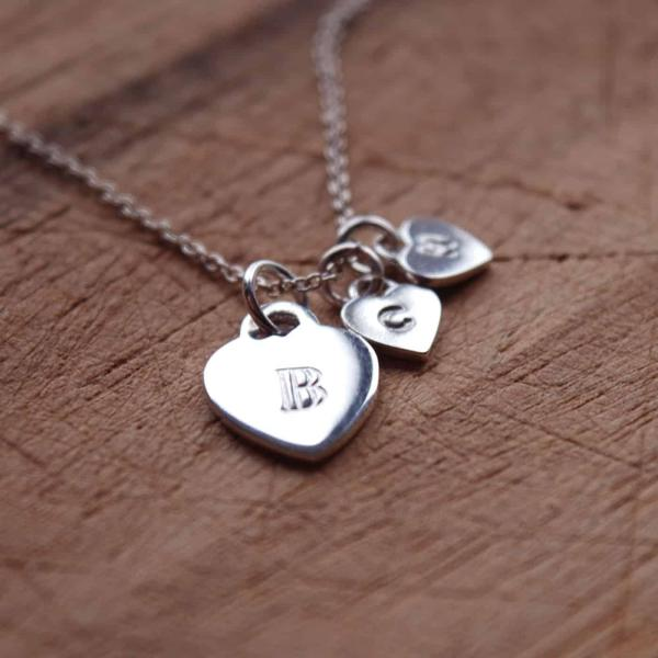Personalised-Silver-Hearts-Necklace