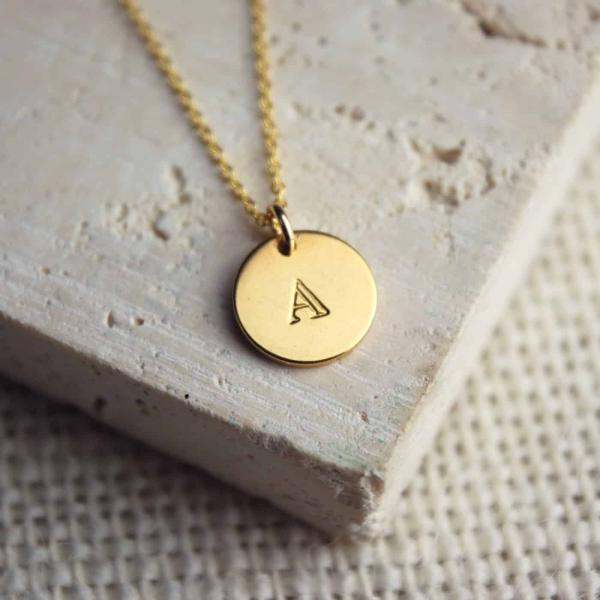 Personalised-Jewellery-Yellow-Gold-Initial-Necklace
